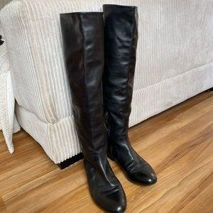 Prada Knee High Leather Boots 7.5